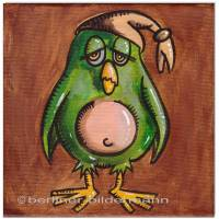 Original Acryl auf Leinwand: Early Bird I / 15x15 cm  Bild 1