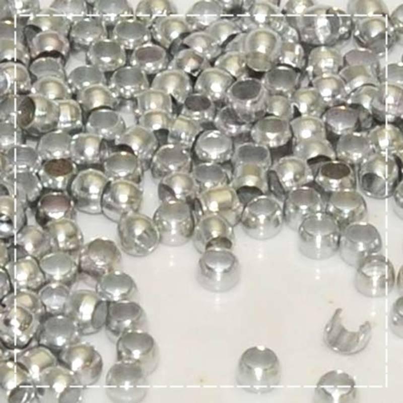 300 Stück / Quetschperlen / 1.5 mm / silberfarben / M1-0145 Bild 1