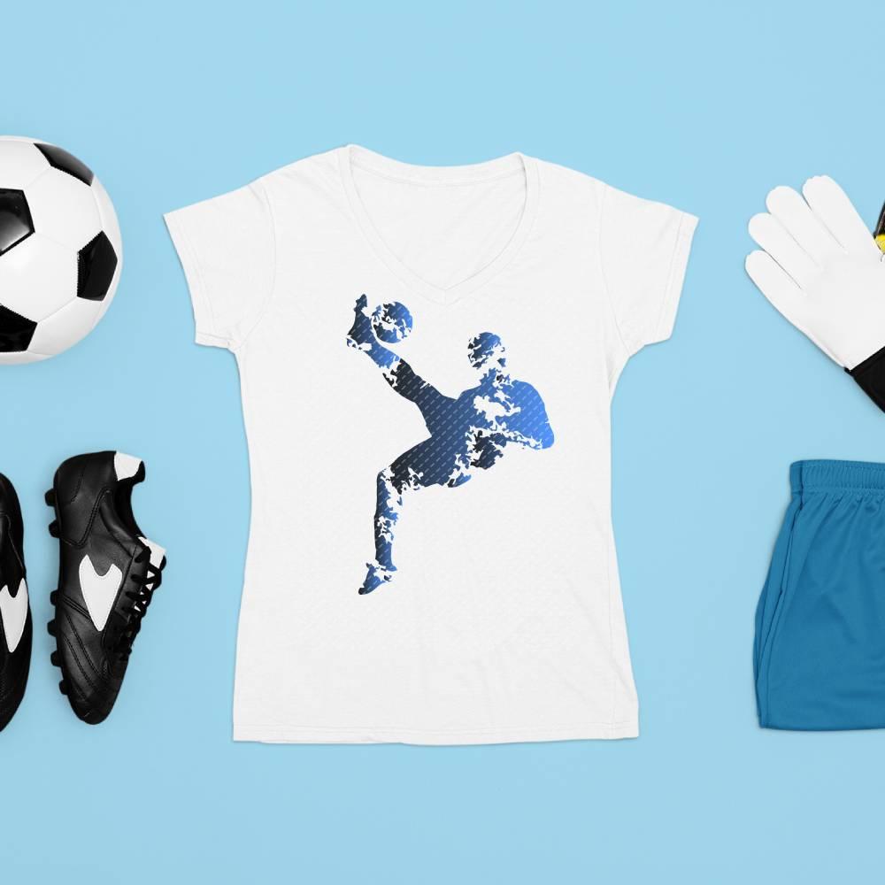 Plotterdatei Fußball, Fußballspieler, Silhouetten, 5 Designs Bild 1