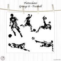 Plotterdatei Fußball, Fußballspieler, Silhouetten, 5 Designs Bild 2
