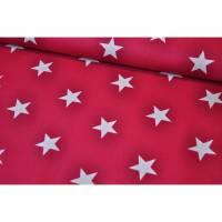 Baumwolle Stars by Poppy fuchsia
