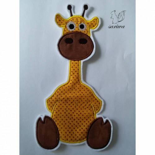 Giraffe - Aufnäher in verschiedenen Größen (S-XL) - Bügelbild