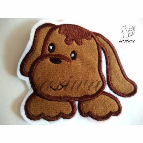 Hund -  Aufnäher in verschiedenen Größen (M-L) - Bügelbild