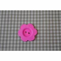 Holz Knopf Blume 30 mm Pink Bild 1