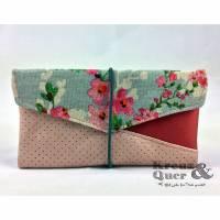 Handytasche Kuori Kirschblüte rosa blau, Smartphonetasche  Bild 1