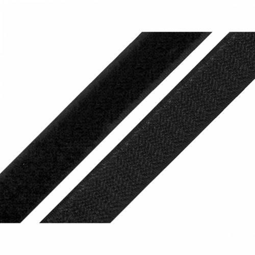 Klettband 20 mm Schwarz komplett