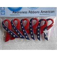 Dress it up Knöpfe     Schleife     (1 Pck.)      Awareness Ribbons American     Kinderknöpfe Bild 1