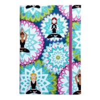 """Notizbuch """"Inner Balance/Blue"""" Blanko Hardcover stoffbezogen ähnlich A5 17,5x23cm Yoga Yogafan Geschenk Geschenkidee Geschenkartikel Bild 2"""
