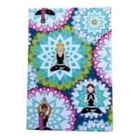 """Notizbuch """"Inner Balance/Blue"""" Blanko Hardcover stoffbezogen ähnlich A5 17,5x23cm Yoga Yogafan Geschenk Geschenkidee Geschenkartikel Bild 3"""