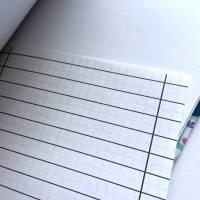 """Notizbuch """"Inner Balance/Blue"""" Blanko Hardcover stoffbezogen ähnlich A5 17,5x23cm Yoga Yogafan Geschenk Geschenkidee Geschenkartikel Bild 6"""