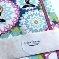 """Notizbuch """"Inner Balance/Blue"""" Blanko Hardcover stoffbezogen ähnlich A5 17,5x23cm Yoga Yogafan Geschenk Geschenkidee Geschenkartikel Bild 7"""