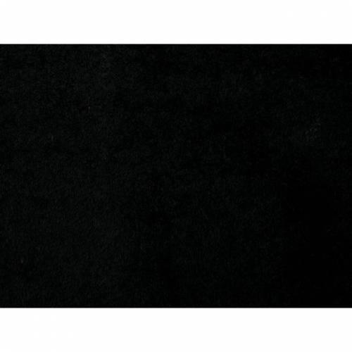 Frottee uni schwarz beideitig geschlingt