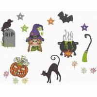 """"""" 10 x versch. Halloween Motive """"  Stickdateien, bitte Format angeben Bild 7"""