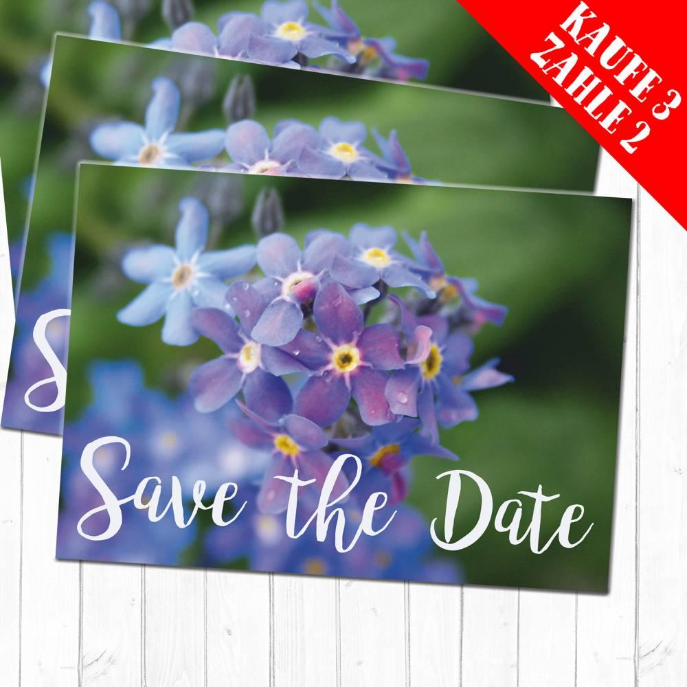 Postkarte Save the Date Bild 1