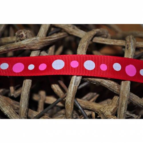 Ripsband Dots rot