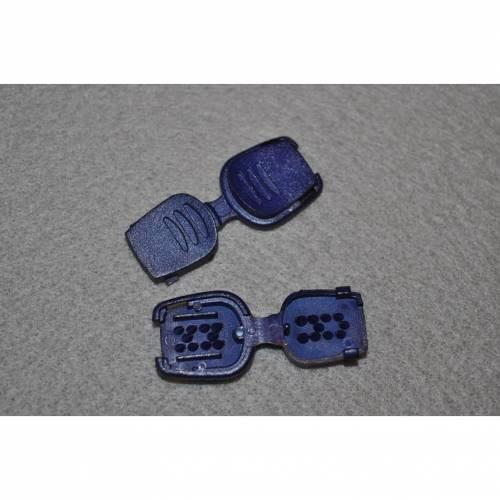 Kordelenden flach blau