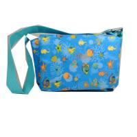Kindergartentasche Tasche Kindertasche Meer Fische türkis blau petrol handmade Bild 1