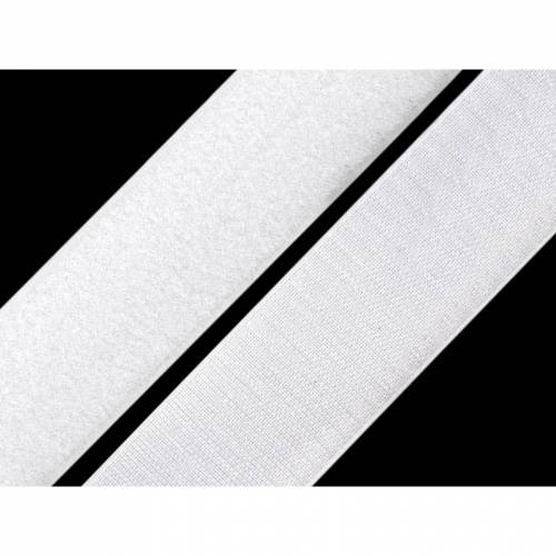 Klettband 38 mm weiß komplett