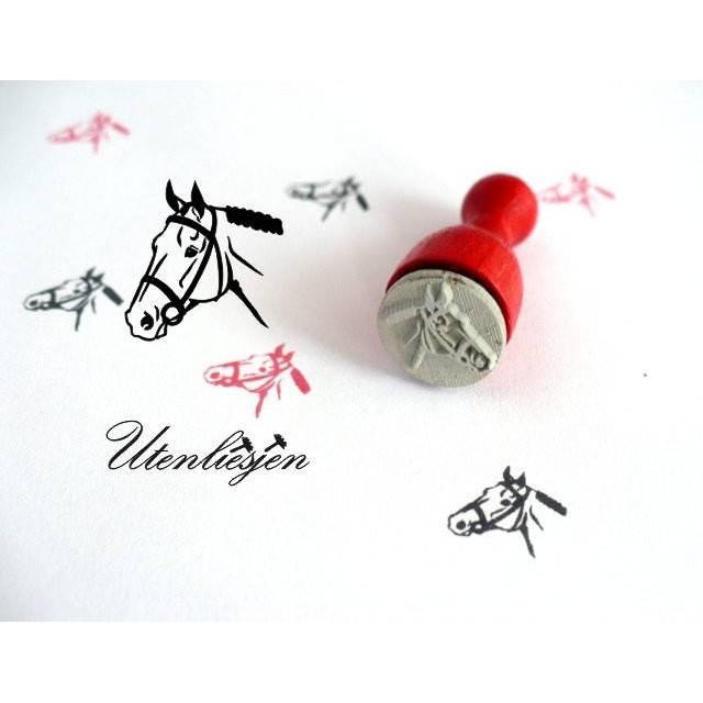 Stempel Pferd, Pferdekopf, mini, Ø 12 mm, Ministempel Bullet Journal Bild 1