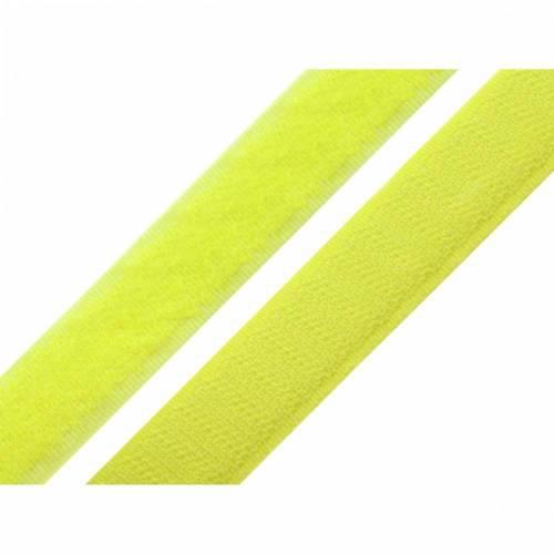 Klettband 20 mm Neongelb komplett
