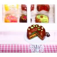 Fimo Torten Kette - Limette Zitrone Schokolade - handmodelliert aus Fimo Bild 1
