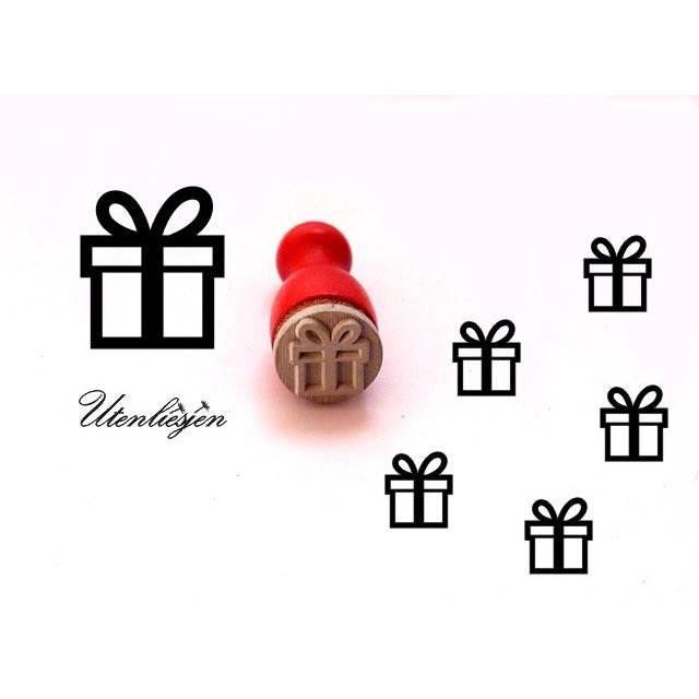 Stempel Geschenk, Geburtstag, mini,  Ø 11 mm, Ministempel Bullet Journal Bild 1