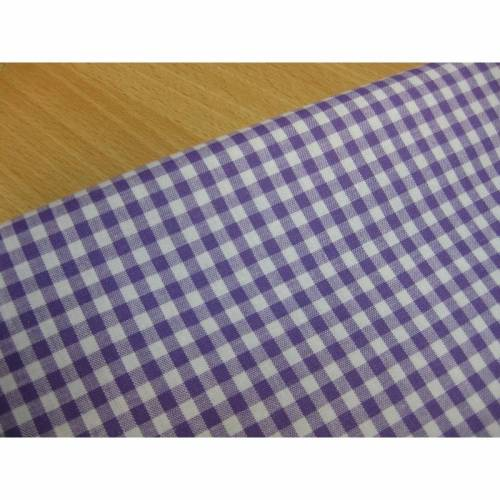 Baumwolle Baumwollstoff Karo lila - weiß 5 mm Oeko-Tex® Standard 100(1m /7,00-€)