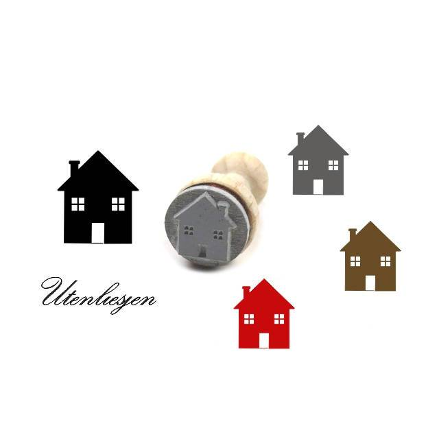 Stempel Haus mit Schornstein, Ø 15 mm  Ministempel Bullet Journal Bild 1