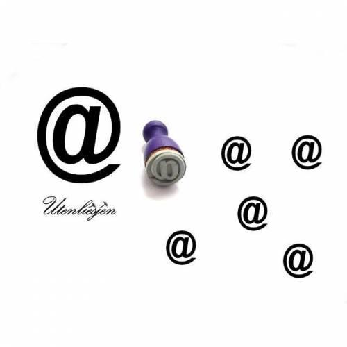 Stempel at, email, mini, Ø 11 mm, Ministempel Bullet Journal