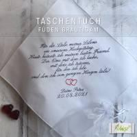 ✂ Freudentränen-Taschentuch - Bräutigam - Stickerei - Geschenk - Hochzeit Bild 2