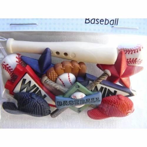 Dress it up Knöpfe     Baseball     (1 Pck.)      Baseball     Kinderknöpfe