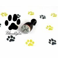 Stempel Pfote, Abdruck Pfote, Hund, Katze, mini, Ø 12 mm, Ministempel Bullet Journal Bild 1