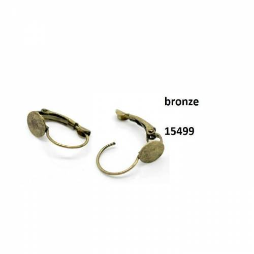10 oder 50 Ohrringe, mit Klebefläche,Brisuren, Ohrbrisuren,  Klappverschluss, Metall, bronze, 15499