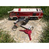 Schlüsselanhänger aus recyceltem Feuerwehrschlauch Bild 2