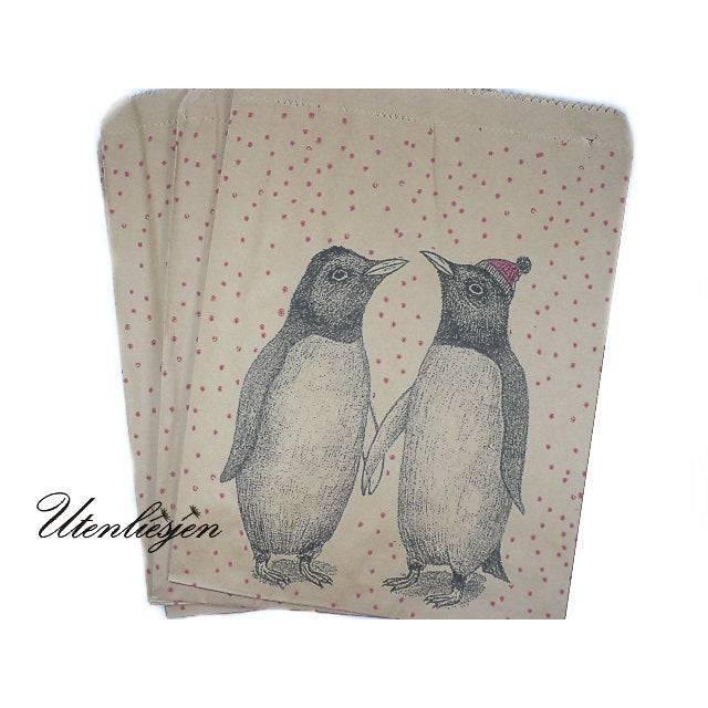 20 Pinguine Kraft Papiertüten Bild 1