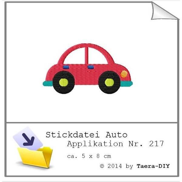 Stickdatei Auto Nr. 217 Bild 1
