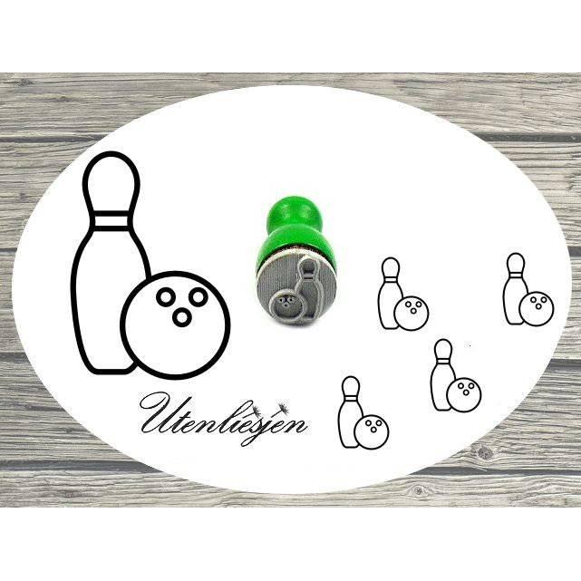 Kegel Stempel mini, Bowling, Ministempel Bullet Journal Bild 1