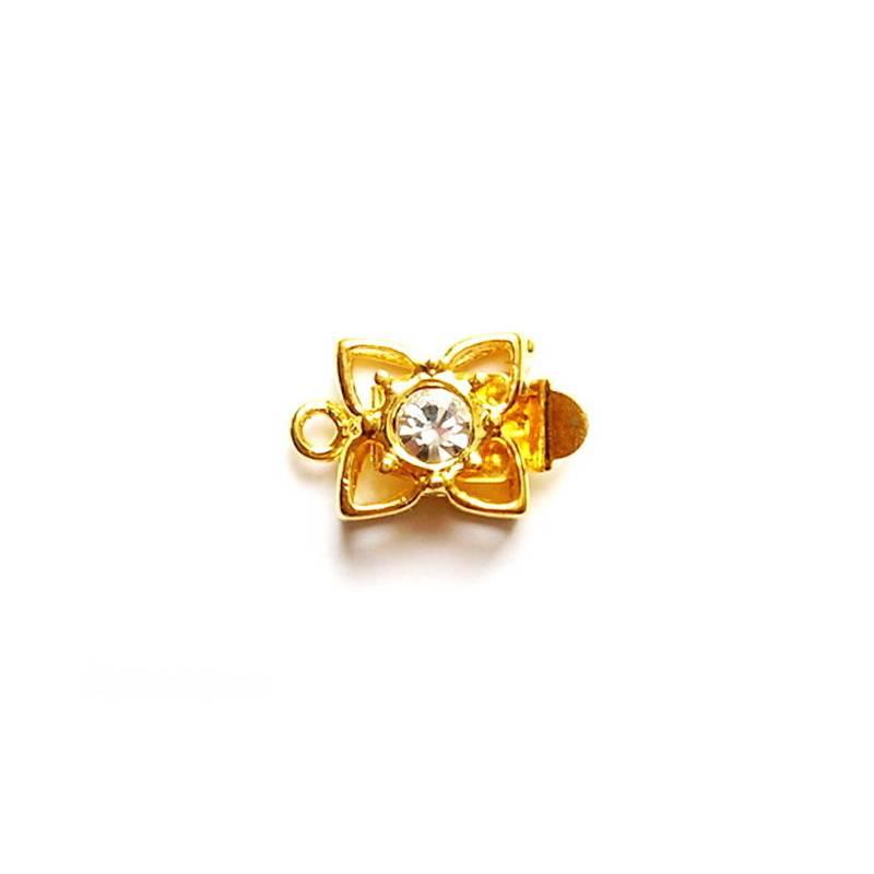 Kastenschlösschen - Blume mit Strassstein Bild 1