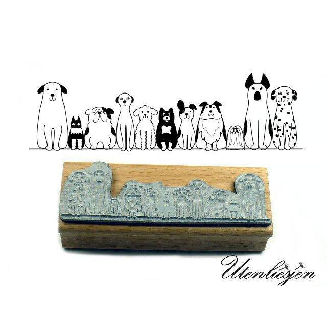 Stempel Adressstempel /« BORDER COLLIE /» Durchmesser ca mit pers/önlicher Adresse und Hund Motiv /Ø 40 mm