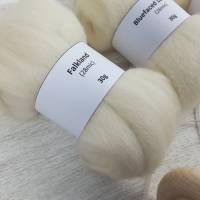 Handspindel-Set mit naturweißer Wolle, Anfänger-Set zum Spinnen, Anfängerspindel mit Wolle, Mini-Kammzüge mit Handspindel Bild 2