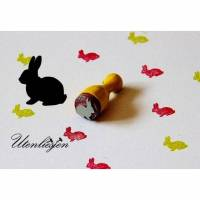 Stempel Hase, Kaninchen, Osterhase, mini, Ø 12 mm, Ministempel Bullet Journal, Osterstempel Hasenstempel Bild 1