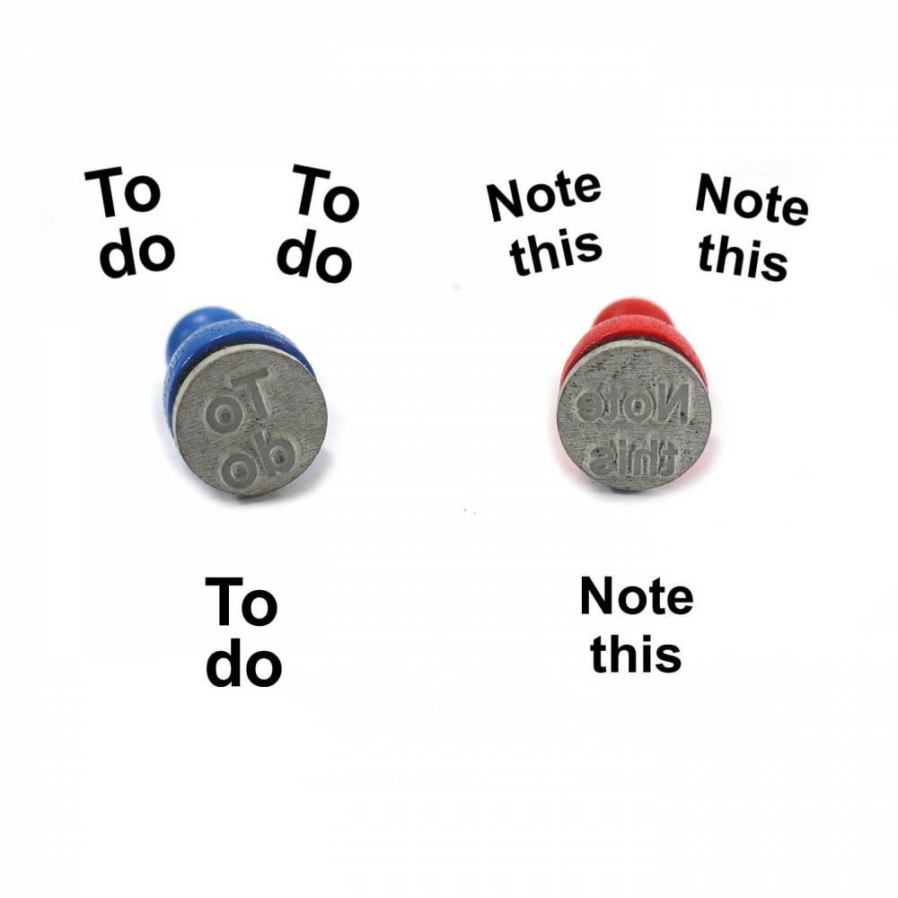 Stempel TO DO oder note this, Ministempel Bullet Journal Bild 1