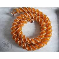 Collier in Orange glänzend Bild 1
