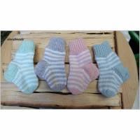 Babysocken Ringelsöckchen für Neugeborene Bild 1