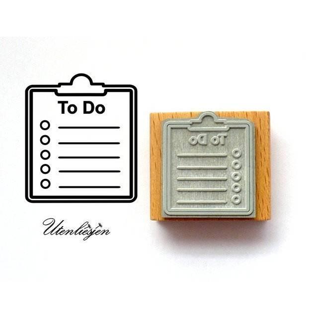 Stempel To do Liste,  40 mm Bullet Journal Bild 1
