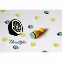 Stempel Zitrone halbiert, mini, Ø 12 mm, Zitrusfrucht, Frucht Ministempel Bullet Journal Bild 1