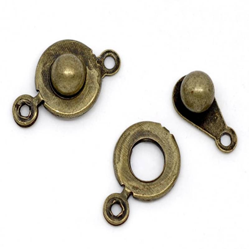 10 Stück / Klick-Verschluss / 18*9.5 mm / bronzefarben / R1-0172 Bild 1