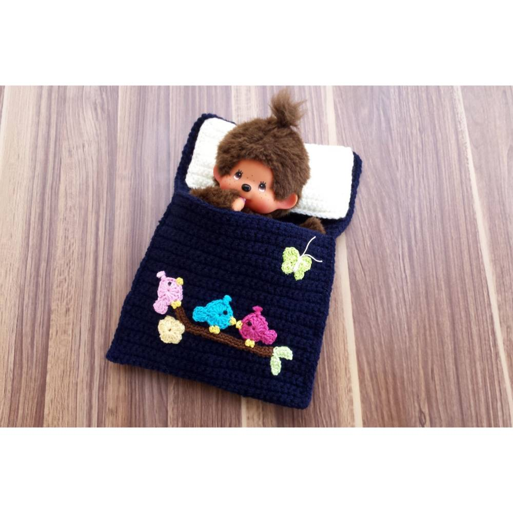 Puppenbettchen - Schlafsack für Monchichi 20 cm Bild 1