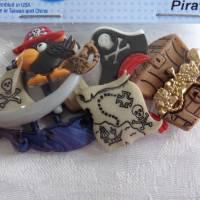 Dress it up Knöpfe - Buttons       Pirat und Papagei        (1 Pck.)     Pirates