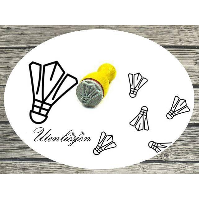 Stempel Federball mini  Badminton Ministempel Bullet Journal Bild 1